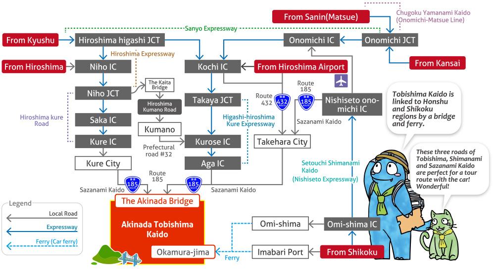 Access Seven bridges of tobishima Virtual Tour